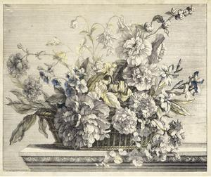 Vintage Basket of Flowers II by Giovanni Baptiste