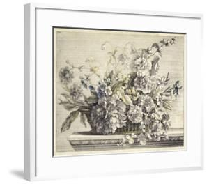 Vintage Basket of Flowers II by Giovanni Baptiste