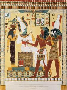 Mural from the Tombs of the Kings of Thebes, Discovered by G. Belzoni by Giovanni Battista Belzoni