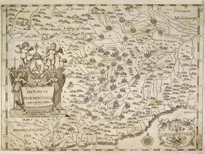 Map of Piedmont and Western Liguria Region by Giovanni Battista Cassini