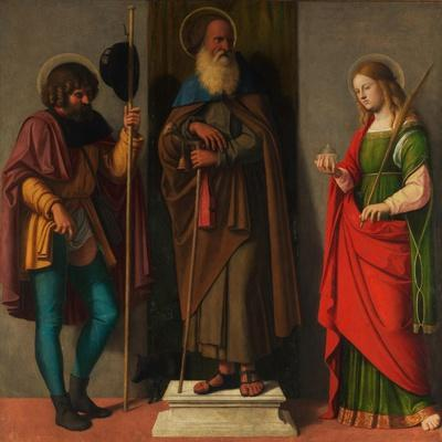 Three Saints: Roch, Anthony Abbot, and Lucy, c.1513