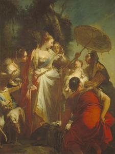 The Finding of Moses, 1730S by Giovanni Battista Crosato