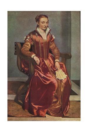 'Portrait of a Lady ('La Dama in Rosso')', c1556-60