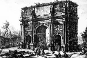 A View of the Arch of Constantine, from the 'Views of Rome' Series, C.1760 by Giovanni Battista Piranesi