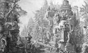 Allegorical Frontispiece of Rome and Its History, from Le Antichita Romane de G.B. Piranesi by Giovanni Battista Piranesi