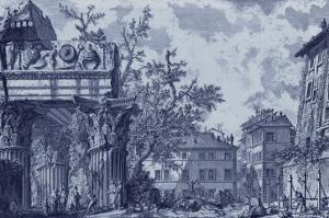Antique Blue View I by Giovanni Battista Piranesi
