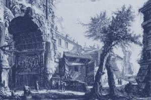Antique Blue View II by Giovanni Battista Piranesi