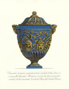 Blue Urn III by Giovanni Battista Piranesi