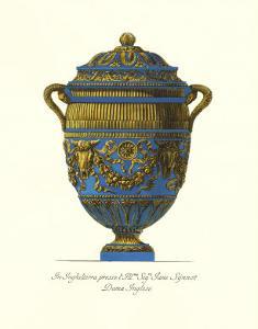 Blue Urn IV by Giovanni Battista Piranesi
