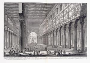 Interior of St. Paul's Basilica Outside the Walls, 1753-1837 by Giovanni Battista Piranesi