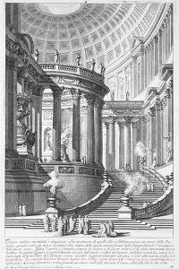 Italy, Rome, Temple of Vestal Virgins, Etching by Giovanni Battista Piranesi