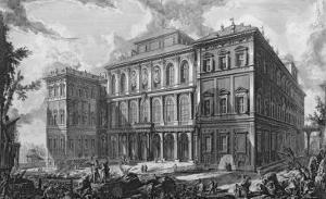 Palazzo Barberini on the Quirinale, Rome by Giovanni Battista Piranesi