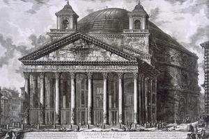 Pantheon of Agrippa, Rome by Giovanni Battista Piranesi