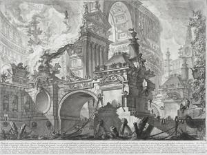 Part of a Harbor for the use of the ancient Romans opening onto a large market square by Giovanni Battista Piranesi