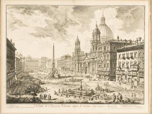 Piazza Navona, Plate from 'Vedute Di Roma', 1751 by Giovanni Battista Piranesi