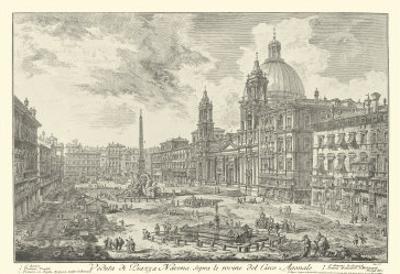Piranesi View of Rome VI natural by Giovanni Battista Piranesi