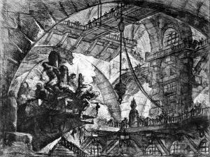 Plate from the 'Carceri D'Invenzione' Series, 1761 by Giovanni Battista Piranesi