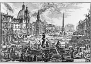 Rome, Piazza Navona, C.1747-78 by Giovanni Battista Piranesi