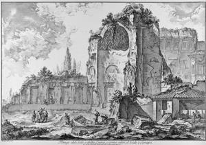 Rome, Roman Forum, Temple of Venus and Roma, C.1774-78 by Giovanni Battista Piranesi