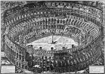 Rome, the Colosseum, C.1774-78 by Giovanni Battista Piranesi