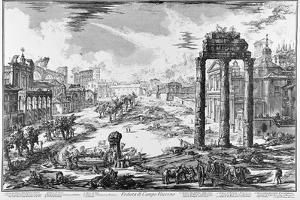 Rome, View of the Roman Forum, C.1774-78 by Giovanni Battista Piranesi