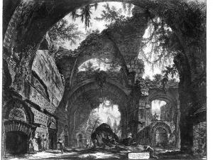 Ruined Gallery of the Villa Adriana at Tivoli by Giovanni Battista Piranesi
