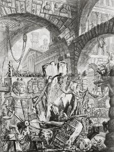 The Man on the Rack, from 'Carceri d'Invenzione', c.1749 by Giovanni Battista Piranesi