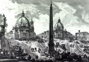 Veduta Della Piazza Del Popolo, C.1750 by Giovanni Battista Piranesi