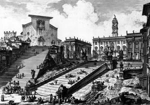 View of the Capitoline Hill, from the 'Views of Rome' Series, C.1760 by Giovanni Battista Piranesi
