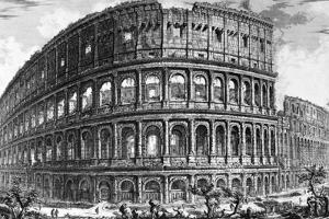 View of the Colosseum, from the 'Views of Rome' Series, C.1760 by Giovanni Battista Piranesi