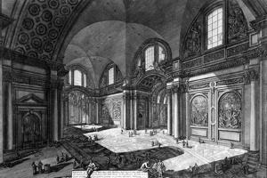View of the Interior of Santa Maria Degli Angeli E Dei Martiri, from the 'Views of Rome' Series,… by Giovanni Battista Piranesi