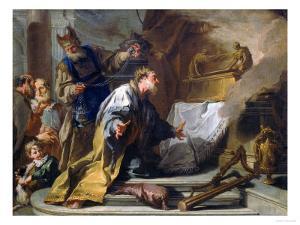 David Before the Ark of the Covenant, Vasari Corridor, Uffizi Gallery, Florence by Giovanni Battista Pittoni
