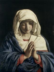 Madonna in Prayer by Giovanni Battista Salvi da Sassoferrato