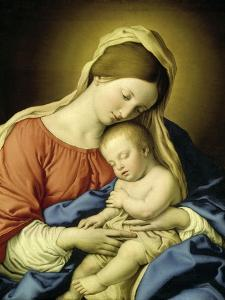 Mary with Child by Giovanni Battista Salvi da Sassoferrato