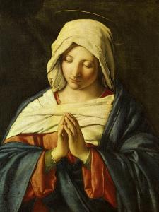 Praying Madonna by Giovanni Battista Salvi da Sassoferrato