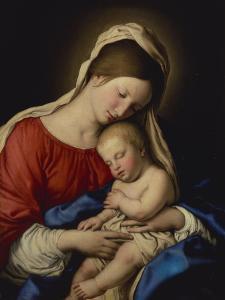 The Madonna with the Sleeping Christ Child by Giovanni Battista Salvi da Sassoferrato