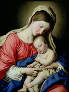 Virgin and Child by Giovanni Battista Salvi da Sassoferrato