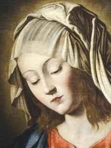Virgin's Face, Detail from Virgin in Prayer by Giovanni Battista Salvi da Sassoferrato
