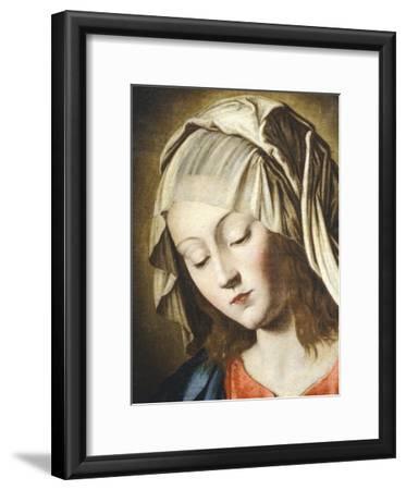Virgin's Face, Detail from Virgin in Prayer