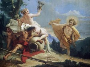 Apollo Pursuing Daphne, C1755-1760 by Giovanni Battista Tiepolo
