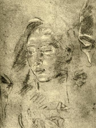 'Head of a Young Woman', mid 18th century, (1928)