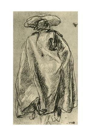 'Man in a Big Cloak seen from behind', 1752, (1928)