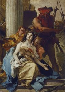The Martyrdom of St. Agatha, about 1750. (Altarpiece from S. Agata, Lendinara) by Giovanni Battista Tiepolo