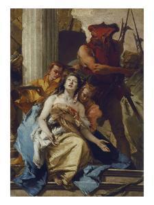 The Martyrdom of St. Agatha, about 1750. (Altarpiece from S. Agata, Lendinara) by Giovanni Battista Tiepolo
