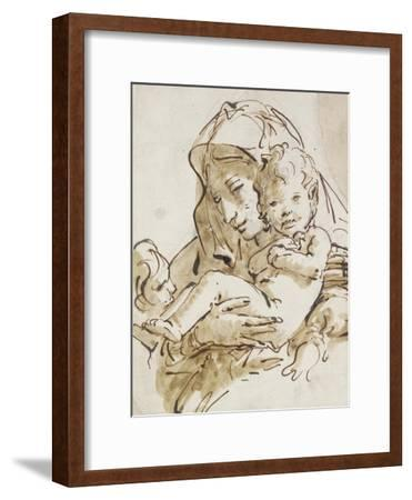 The Virgin and Child with the Infant St John (Pen and Brown Ink with Brown Wash over Black Chalk on