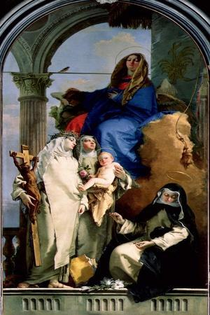 The Virgin and Three Dominican Saints, 1740