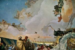 Throne Room: the Glory of Spain, Allegory of Africa, 1762-1766 by Giovanni Battista Tiepolo