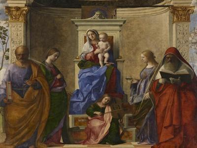 San Zaccaria Altarpiece (Madonna with Child, Sts Peter, Catherine of Alexandria, Lucy, and Jerome)