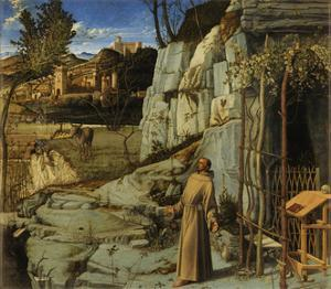 St. Francis of Assisi in the Desert, C.1480 by Giovanni Bellini