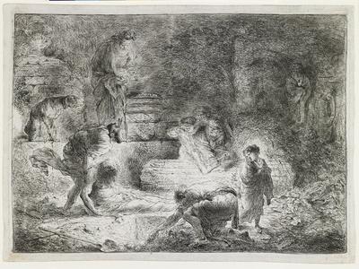 Tobit Burying the Dead, C. 1650